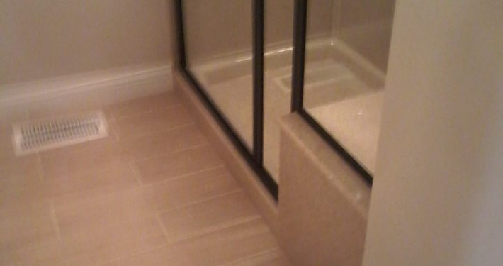 Bretz Bathroom Remodel Wood Style Tile Flooring