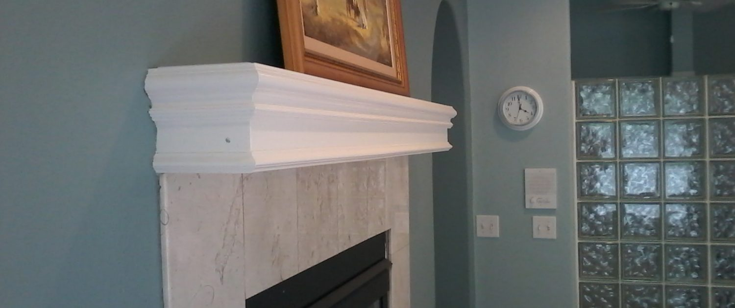 Whitty Bathroom Fireplace Mantel
