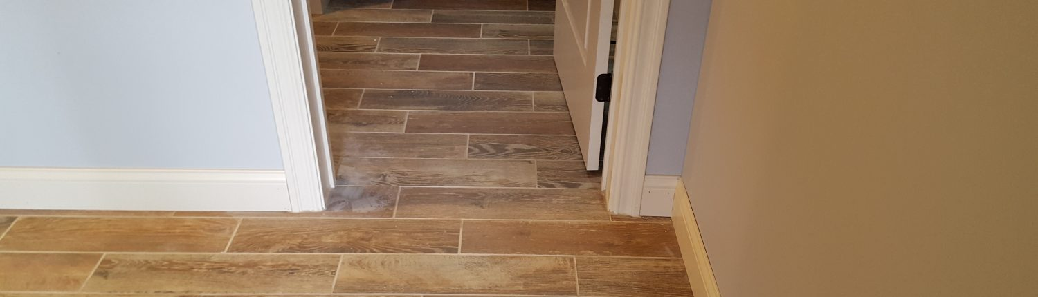 Ament wood look tile flooring