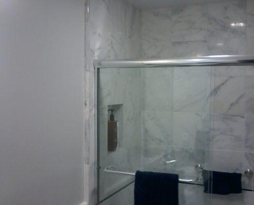 Stimetz Hall Bathroom tile shower surround 1