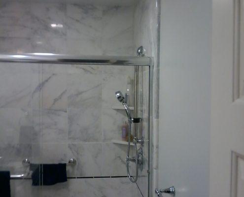 Stimetz Hall Bathroom tile shower surround