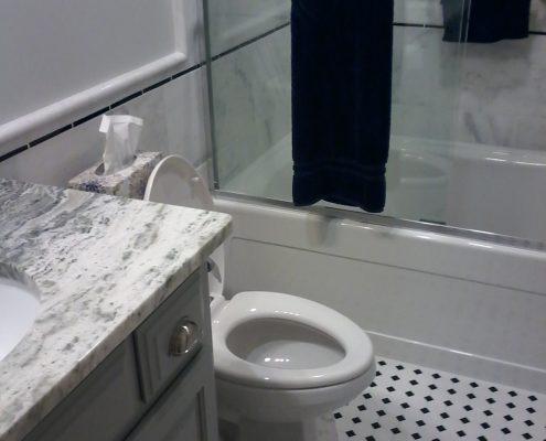 Stimetz Hall Bathroom tile flooring