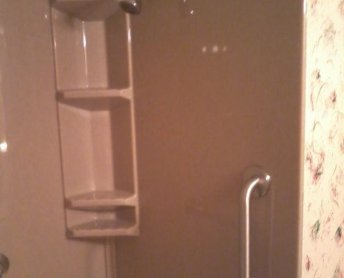 Wolfe Onyx shower tub grab bar
