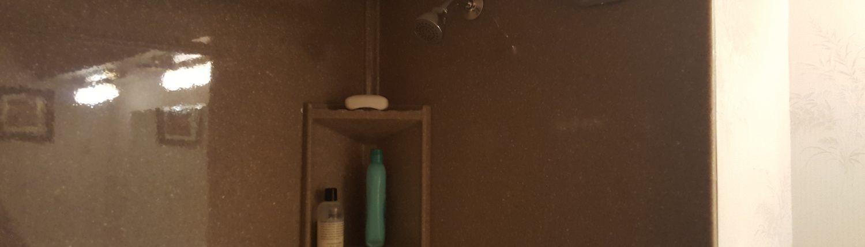 Brown Upstair Shower