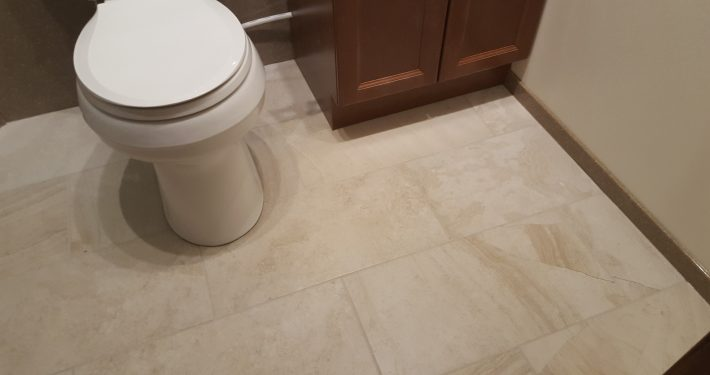 Brown Basement tile flooring