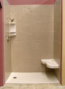 Onyx stone tile shower and Onyx base