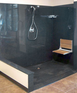 wheel chair friendly onyx shower