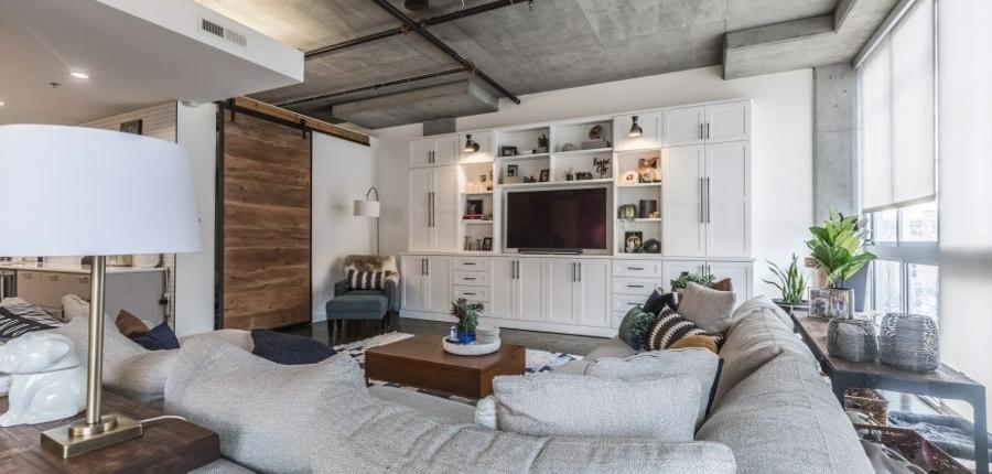 Modern condo living space Kansas City style