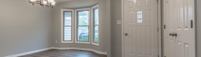 Aker Front door and front window