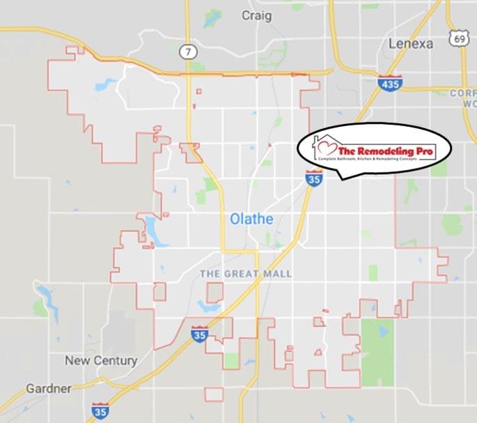 Olathe Remodeling Pro Map