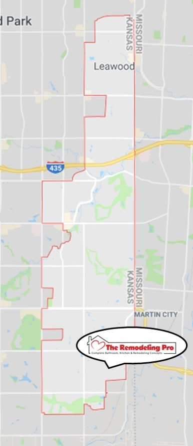 leawood remodeling professional map