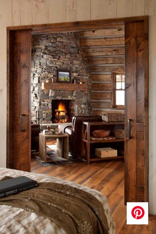 Cabine Pocket Doors Expose Living Room