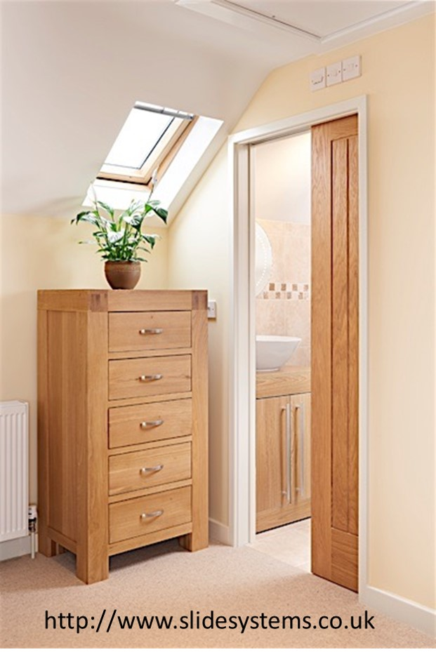 Loft pocket door to bathroom