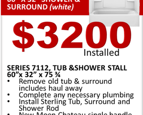 Sterling Shower Replacement Special 60x32