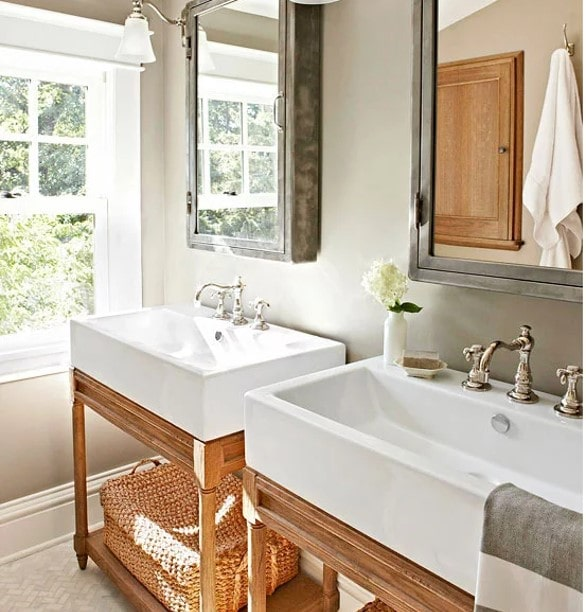 Overside bathroom sinks