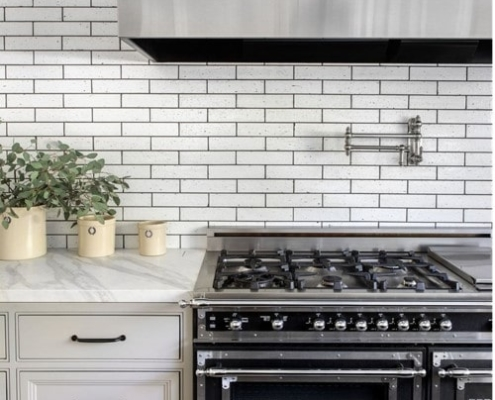 tile with darker grout