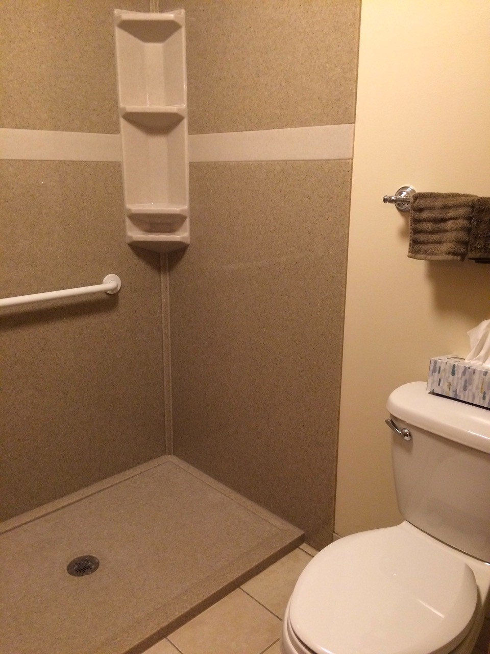 bath remodel without door shuemaker
