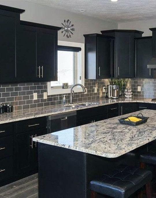 black cabinet color
