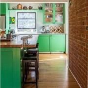 bright green cabinet color