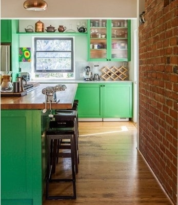bright green cabinet color