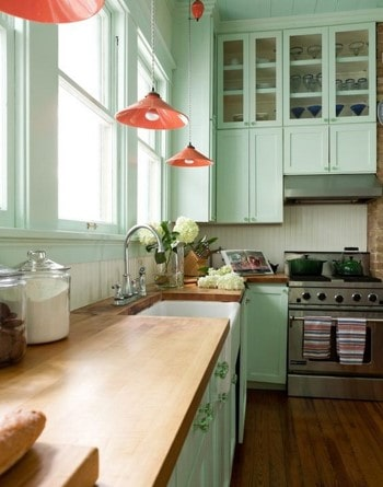 lime kitchen cabinet color