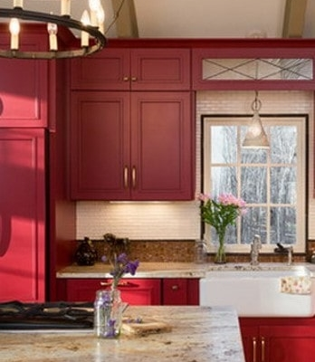 red 2 kitchen color