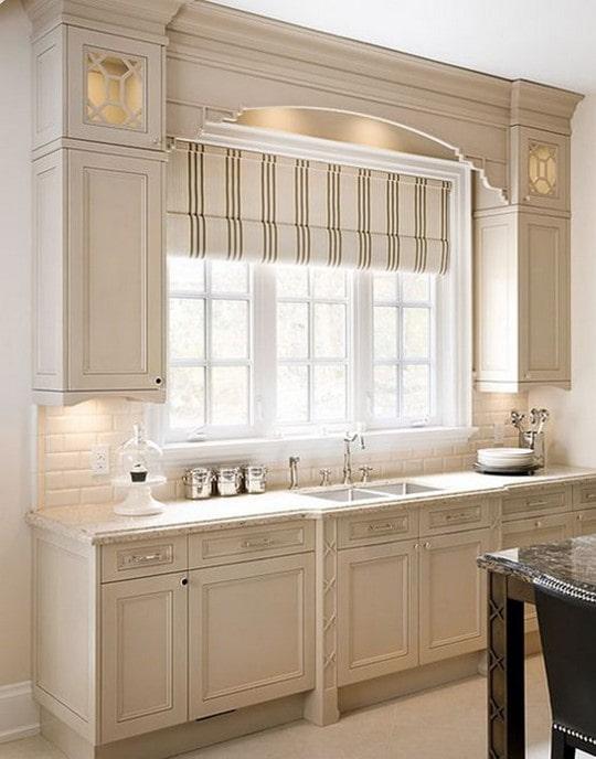 white cabinet in kitchen