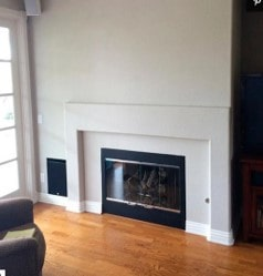 boring fireplace before
