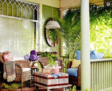 green porch after