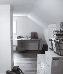 attic turned bath before