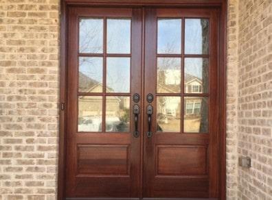 double door after