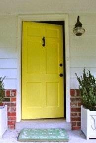yellow door after